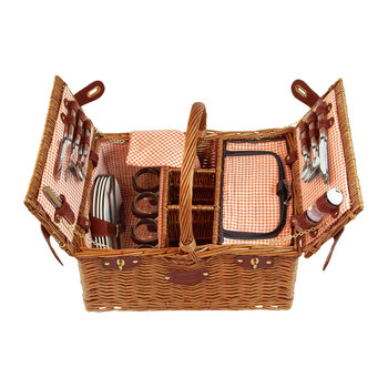 Saint Germain Picnic Basket - 4 Person - Orange