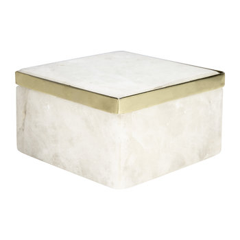 Quartz Trinket Box - White