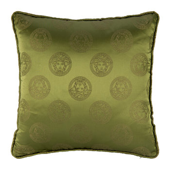 Medusa Royale Silk Pillow - 45x45cm - Green