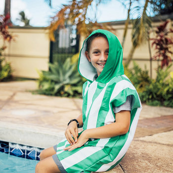 Cabana Children's Poncho - Cancun Green