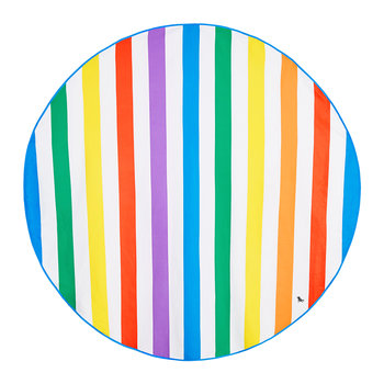 Cabana Round Beach Towel - Rainbow Skies