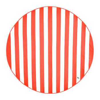 Cabana Round Beach Towel - Waikiki Coral Red
