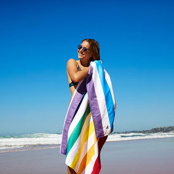 Summer Beach Towel - Rainbow Skies