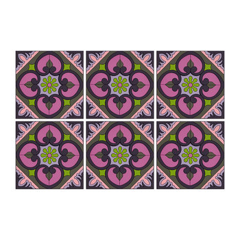 Set of 6 Coasters - Sejjadeh Orchid Combo