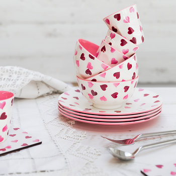 Pink Hearts Coasters - Set of 4