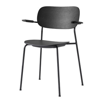 Co Chair Dining Chair with Arms - Black Oak