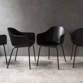 Harbour Dining Chair - Black Steel