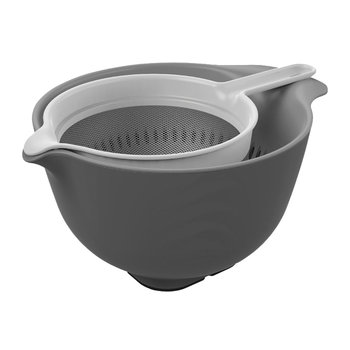 Mixing Bowl, Colander & Sieve Set - Gray