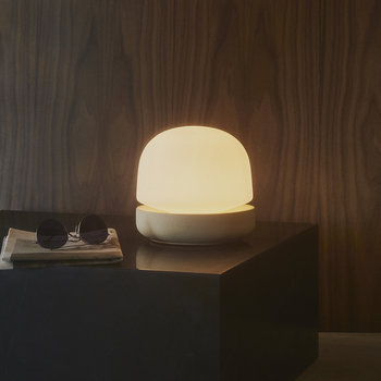 Stone Table Lamp - Sand
