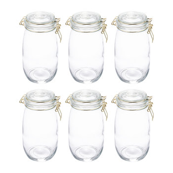 Glass Preserving Jars - Set of 6 - 1.5L