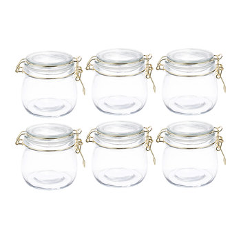 Glass Preserving Jars - Set of 6 - 500ml