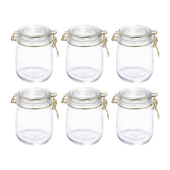 Glass Preserving Jars - Set of 6 - 750ml