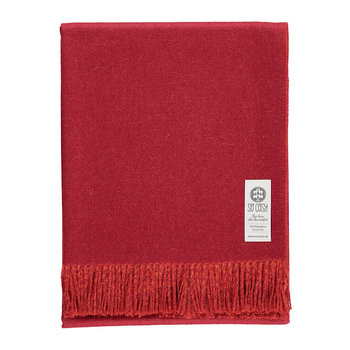 Emery Baby Alpaca Wool Throw - 130x180cm - Crimson Red/Deep Orange