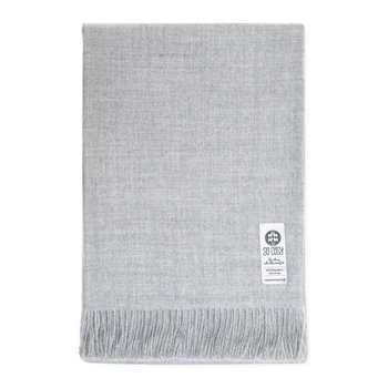 Emma Baby Alpaca Wool Throw - 130x200cm - Silver