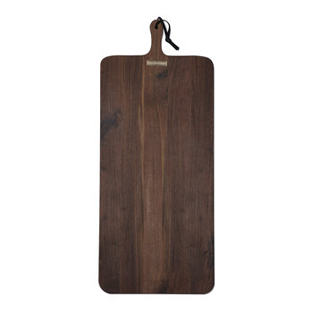 XL Rectangular Solid Wood Bread Board - Walnut
