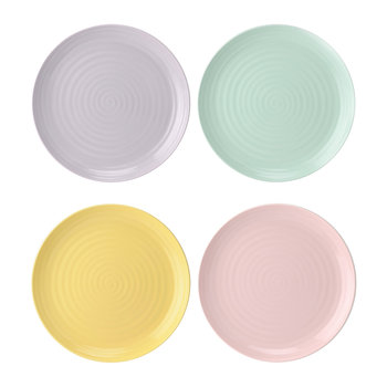 Colour Pop Side Plates - Set of 4 - Assorted Colours