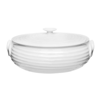 White Porcelain Oval Casserole Dish
