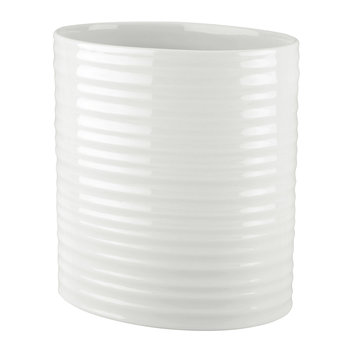 White Porcelain Oval Utensil Jar