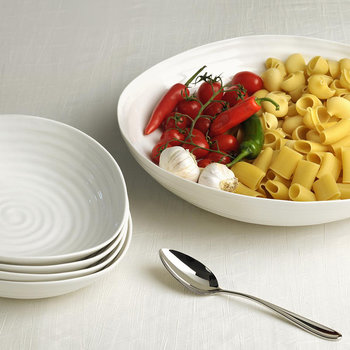 White Porcelain Pasta Serving Bowl