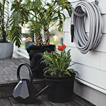 Diamond Indoor Watering Can - Graphite