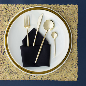 Moon Flatware Set - 24 Piece - Champagne