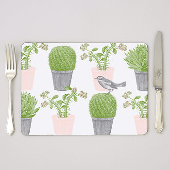 Cactus & Bird Placemats - Set of 4
