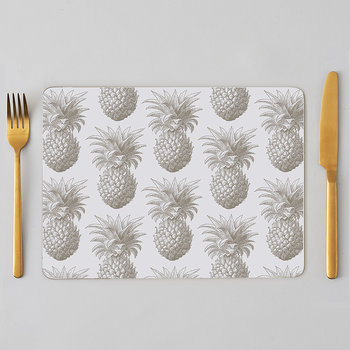 Pineapple Placemats - Gray - Set of 4