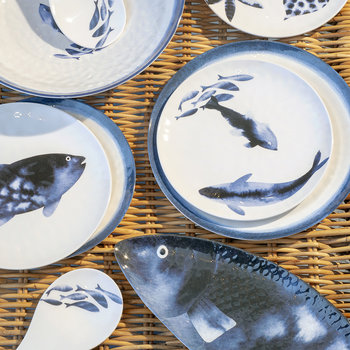 Coastal Melamine Side Plate - Set of 4