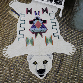 Kasbah Polar Bear Rug - Off White