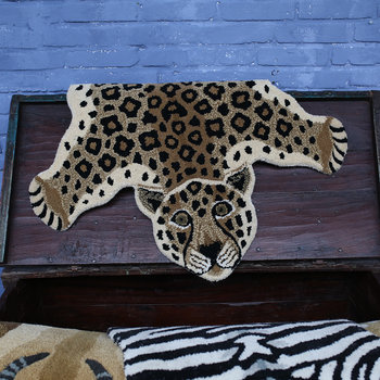 Loony Leopard Rug - Brown