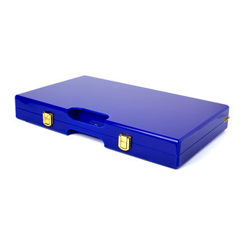 Lacquered Backgammon Set - Blue