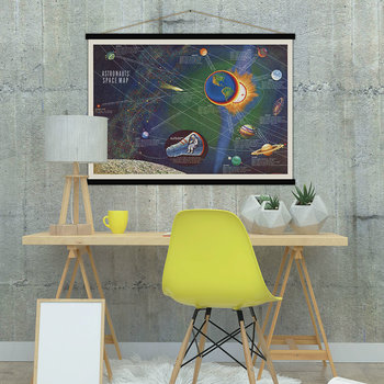 Astronauts' Space Map Print