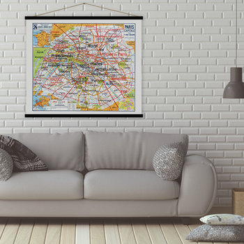 Paris Capitale Vintage Map Print