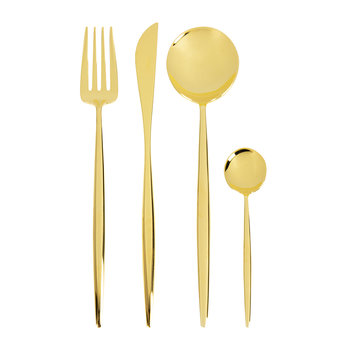 Moon Flatware Set - 24 Piece - Gold