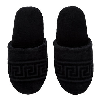 Men's Medusa Classic Jacquard Slippers - Black