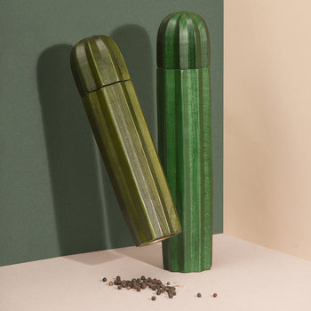 Cacti Salt and Pepper Grinder - Green Wood