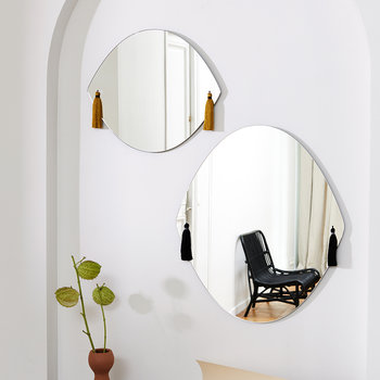 Panache Wall Mirror with Tassels - Small