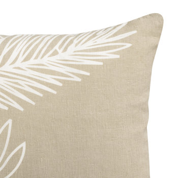 Palm Leaf Pillow - Chalk