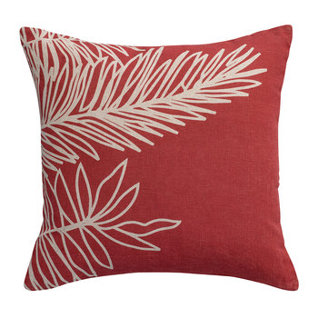 Palm Leaf Pillow - Rose