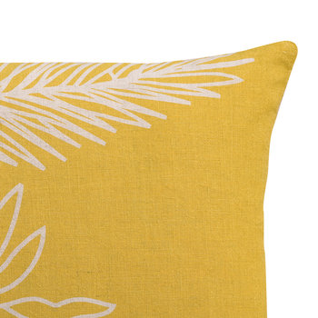 Palm Leaf Pillow - Yellow