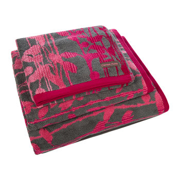 St Lucia Towel - Hot Pink