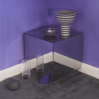 Speculum Large Mirrored Table - Gunmetal