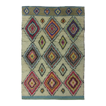 Diamond Shaggy Wool Rug - 120x180cm