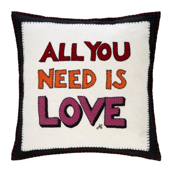 Pop Art All You Need Is Love Cushion - 46x46cm