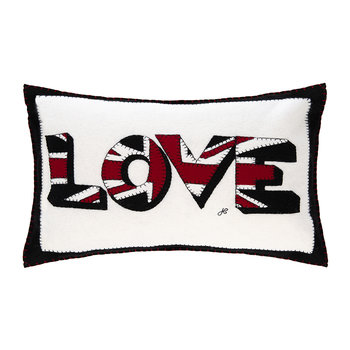 Pop Art Big Union Jack Love Cushion - 57x41cm