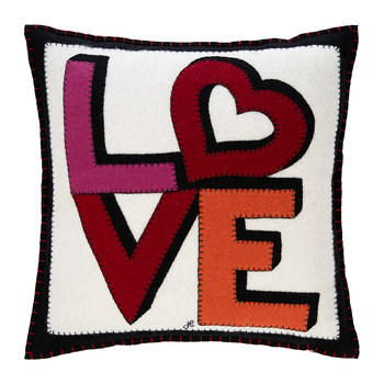 Pop Art Love and Heart Cushion - 46x46cm