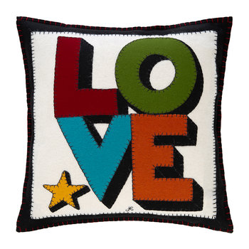Pop Art Star Love Cushion - 46x46cm