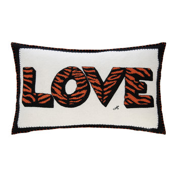 Pop Art Tiger Love Cushion - 57x41cm