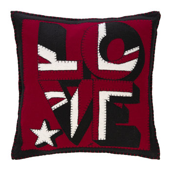 Pop Art Union Jack Love Pillow - 46x46cm