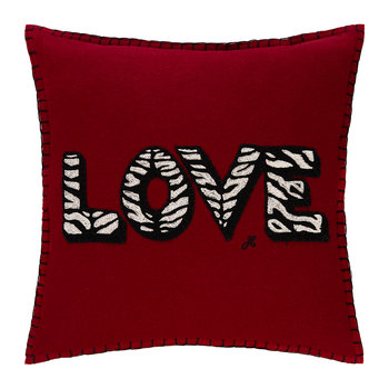 Pop Art Zebra Love Cushion - 38x38cm